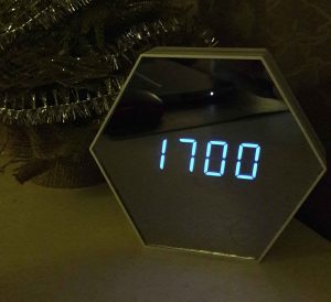 Multifunctional Mirror Finish Alarm Clock
