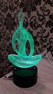Colorful Yoga Model 3D LED Table Lamp